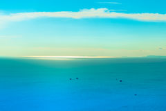 Sea and Ocean. Calm Sea Ocean And Blue Sky Background Stock Photography