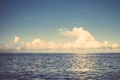 Sea ocean cloud blue sky retro vintage Stock Photos