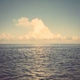 Sea ocean cloud blue sky retro vintage Stock Photography