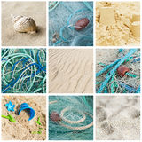 Sea and ocean collage Royalty Free Stock Photo
