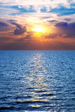 Sea, ocean at colorful sunset Stock Images