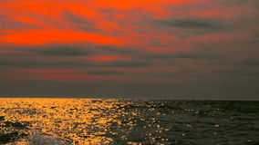 Sea or ocean at sunset. Sea or ocean at sunset, seascape background stock video footage