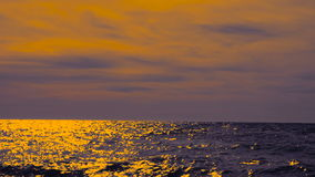 Sea or ocean at sunset. Sea or ocean at sunset, seascape background stock video