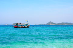 Sea and Ocean in Thailand. This photo taken where the small island in Sat-ta-hep district thailand. It is blue ocean. To travel to this island, there is only Royalty Free Stock Image