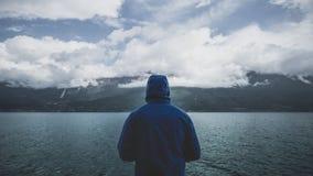 Sea, Ocean, Water, Dark, Mountain Stock Image