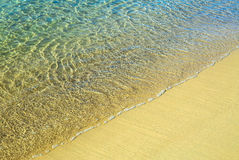 Sea Ocean Water and Sand with Copy Space Royalty Free Stock Photography