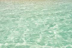Sea or ocean water surface in Costa Maya, Mexico. Sea or ocean water surface on crystal clear background in Costa Maya, Mexico. Environment and ecology concept royalty free stock photo