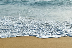 Sea Ocean Wave and Sand with Copy Space Royalty Free Stock Photo