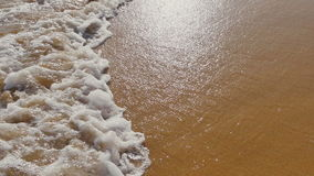 Sea, Ocean Waves over Sand Beach stock video footage