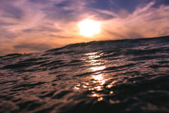 Sea Ocean Waves during Sunset Stock Photo