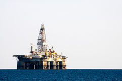 Sea Oil Rig Drilling Platform Royalty Free Stock Photography