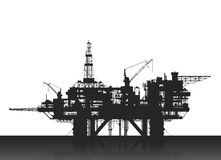 Sea oil rig. Oil platform in the deep sea. Stock Image
