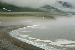 The Sea of Okhotsk. Coney Beach Peninsula. The Sea of Okhotsk Royalty Free Stock Images