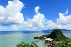 Sea in okinawa japan Stock Image