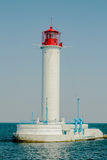 Sea old lighthouse beautiful landscape view. Old building navigation. Stock Photography