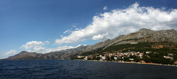 The sea in Omis, Croatia Royalty Free Stock Images