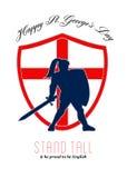Sea orgulloso ser St feliz inglés George Day Poster Fotografía de archivo