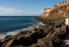 The sea outside San Felipe Fort Stock Images