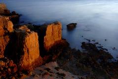 Sea over rocks Royalty Free Stock Photos