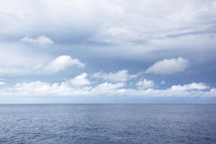 Sea at overcast day. May be used as background royalty free stock photography