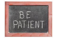 Sea paciente Foto de archivo libre de regalías