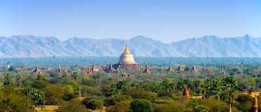Sea of Pagodas and Temples in Bagan Stock Image