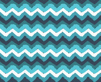 Sea Painted Zigzag Pattern Stock Images