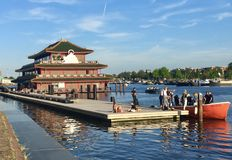 Sea Palace restaurant. In Amsterdam canal Royalty Free Stock Photography