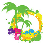 Sea and palm trees Stock Photo
