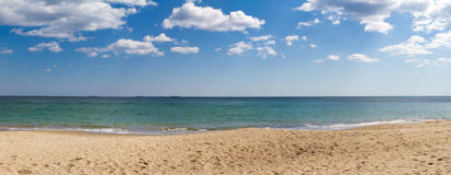 Sea panorama. With clouds Royalty Free Stock Images