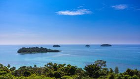 Sea panorama at koh chang lsland beach Royalty Free Stock Images