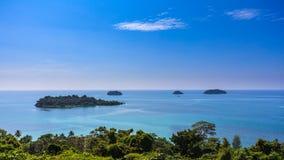 Sea panorama at koh chang lsland beach Royalty Free Stock Images