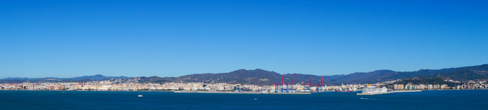 Sea panorama of Malaga city, Spain Stock Photo