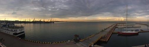 Sea. Panorama. Marine Station. Odessa stock image