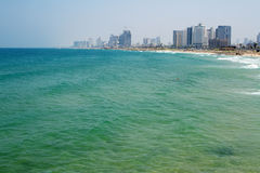 Sea panorama of Tel-Aviv, Israel Stock Photo