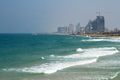 Sea panorama of Tel-Aviv, Israel Stock Photos