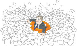 Sea of paper Royalty Free Stock Photos