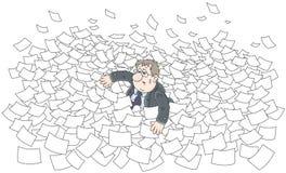Sea of paper Stock Photo
