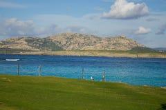 Sea paradise. Beuatifully looking beach La pelosa in sardegna royalty free stock images