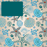 Sea paradise message card Stock Photos