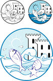 Sea Park Design Elements Stock Photo