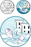 Sea Park Design Elements Stock Photo
