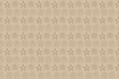 Sea pattern. Seamless sea pattern with sea shells stock illustration