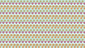 Sea pattern. Seamless sea pattern with sea shells Royalty Free Stock Photos