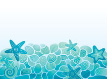 Sea pattern background. With pebbles Royalty Free Stock Photography
