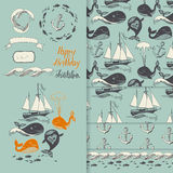 Sea pattern Royalty Free Stock Images