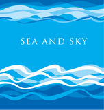 Sea pattern. ocean water vector illustration. Royalty Free Stock Photography