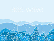 Sea pattern. ocean water vector illustration. Stock Photography