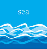 Sea pattern. ocean water vector illustration. Stock Image