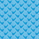 Sea pattern. Seamless illustrated pattern in shades of blue - like stylized sea Stock Image